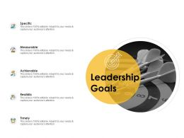 Leadership Goals Ppt Powerpoint Presentation Layouts Designs Download