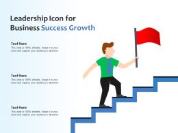Leadership Icon For Business Success Growth