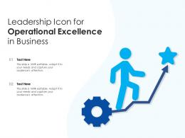 Leadership Icon For Operational Excellence In Business