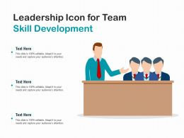 Leadership Icon For Team Skill Development