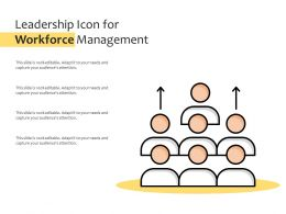 Leadership Icon For Workforce Management