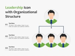 Leadership Icon With Organizational Structure