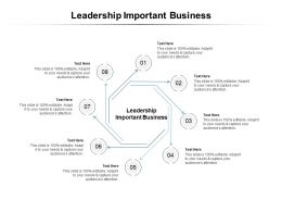 Leadership Important Business Ppt Powerpoint Presentation Professional Show Cpb