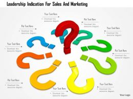 Leadership Indication For Sales And Marketing Image Graphics For Powerpoint