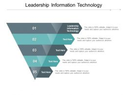 Leadership Information Technology Ppt Powerpoint Presentation Infographic Cpb