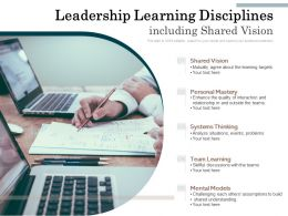 Leadership Learning Disciplines Including Shared Vision