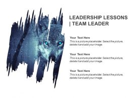 Leadership Lessons Team Leader Ppt Slide