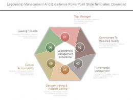 Leadership Management And Excellence Powerpoint Slide Templates Download