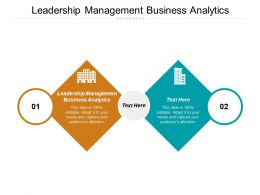Leadership Management Business Analytics Ppt Powerpoint Presentation Icon Master Slide Cpb