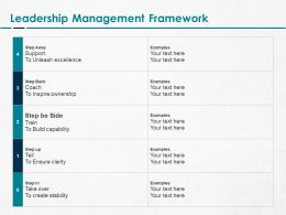 Leadership Management Framework Ppt Powerpoint Presentation Show