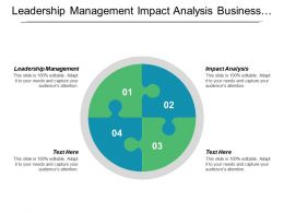 Leadership Management Impact Analysis Business Strategy Change Management Cpb