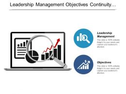 Leadership Management Objectives Continuity Strategies Stages Project Management Cpb