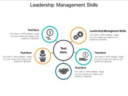 Leadership Management Skills Ppt Powerpoint Presentation Show Slide Download Cpb