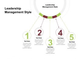 Leadership Management Style Ppt Powerpoint Presentation Summary Slide Cpb
