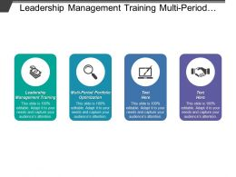 Leadership Management Training Multi Period Portfolio Optimization Financial Modeling Cpb