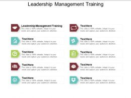 Leadership Management Training Ppt Powerpoint Presentation Icon Objects Cpb