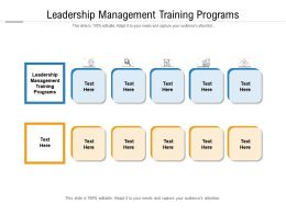 Leadership Management Training Programs Ppt Powerpoint Presentation Inspiration Objects Cpb