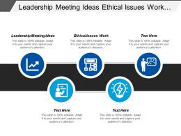 Leadership Meeting Ideas Ethical Issues Work Digital Leadership Cpb