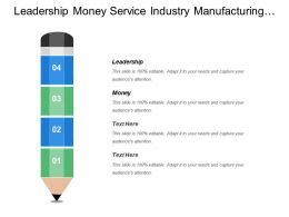 Leadership Money Service Industry Manufacturing Industry Planning Management