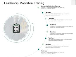 Leadership Motivation Training Ppt Powerpoint Presentation Icon Designs Cpb