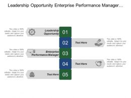 Leadership Opportunity Enterprise Performance Manager Enterprise Applications Human Resources