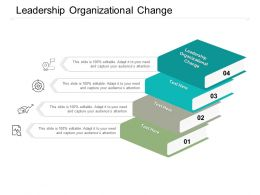 Leadership Organizational Change Ppt Powerpoint Presentation Gallery Information Cpb