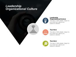 Leadership Organizational Culture Ppt Powerpoint Presentation Model Designs Download Cpb