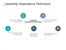 Leadership Organizational Performance Ppt Powerpoint Presentation Pictures Slide Download Cpb