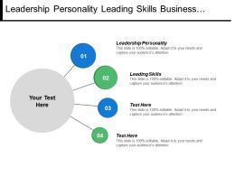 Leadership Personality Leading Skills Business Marketing Ideas Cpb