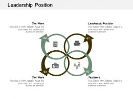 Leadership Position Ppt Powerpoint Presentation Infographic Template Smartart Cpb
