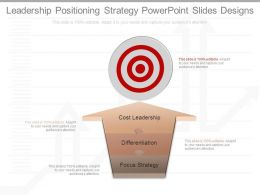 Leadership Positioning Strategy Powerpoint Slides Designs