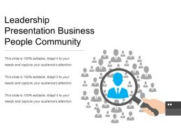 Leadership Presentation Business People Community
