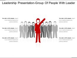 Leadership Presentation Group Of People With Leader