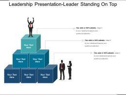 Leadership Presentation Leader Standing On Top
