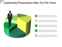 Leadership Presentation Man On Pie Chart