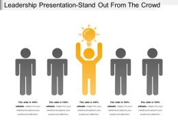 Leadership Presentation Stand Out From The Crowd
