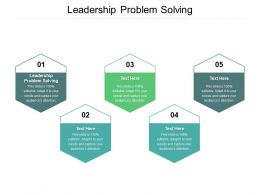 Leadership Problem Solving Ppt Powerpoint Presentation Slides Guide Cpb