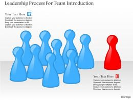 Leadership Process For Team Introduction Powerpoint Templates