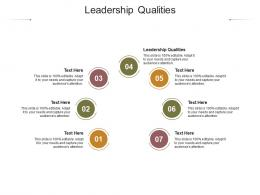 Leadership Qualities Ppt Powerpoint Presentation Show Graphic Images Cpb