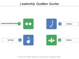 Leadership Qualities Quotes Ppt Powerpoint Presentation Portfolio Pictures Cpb
