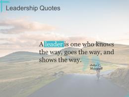 Leadership Quotes Ppt Powerpoint Presentation Portfolio Graphics