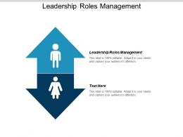 Leadership Roles Management Ppt Powerpoint Presentation Gallery Slides Cpb