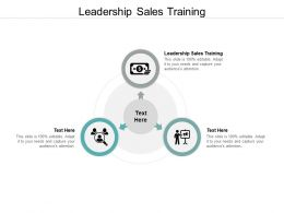 Leadership Sales Training Ppt Powerpoint Presentation Portfolio Slides Cpb