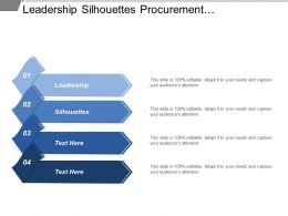Leadership Silhouettes Procurement Management Plan Commercial Database Technology Roadmap