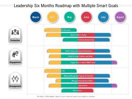 Leadership Six Months Roadmap With Multiple Smart Goals