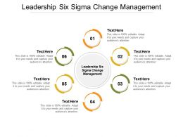 Leadership Six Sigma Change Management Ppt Powerpoint Presentation Layouts Example Introduction Cpb