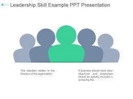Leadership Skill Example Ppt Presentation