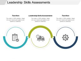 Leadership Skills Assessments Ppt Powerpoint Presentation Layouts Brochure Cpb