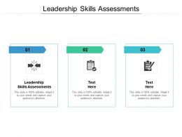 Leadership Skills Assessments Ppt Powerpoint Presentation Outline Cpb