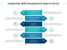 Leadership Skills Development Steps In Arrow